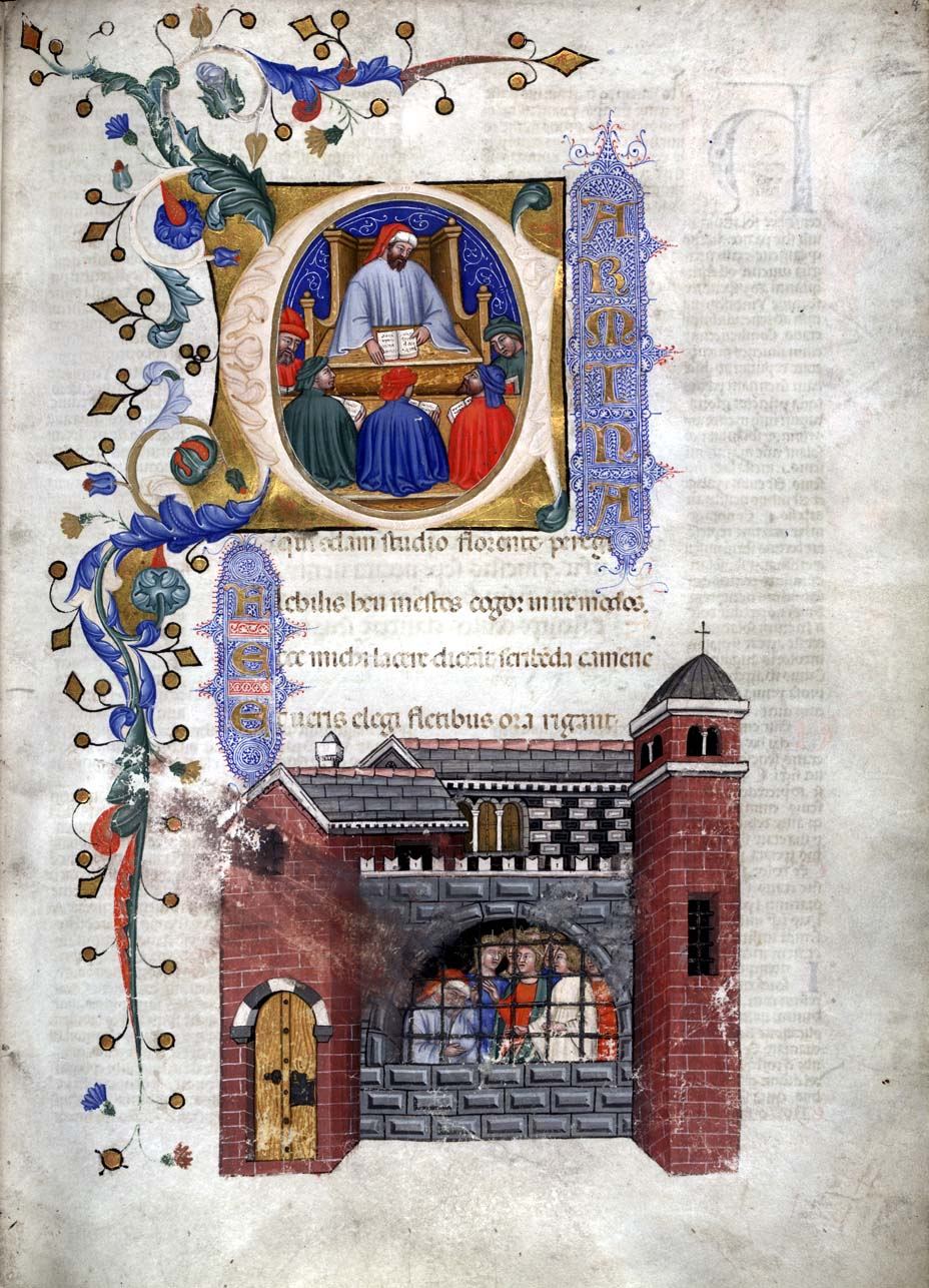 From a 1385 Italian manuscript of the Consolat...