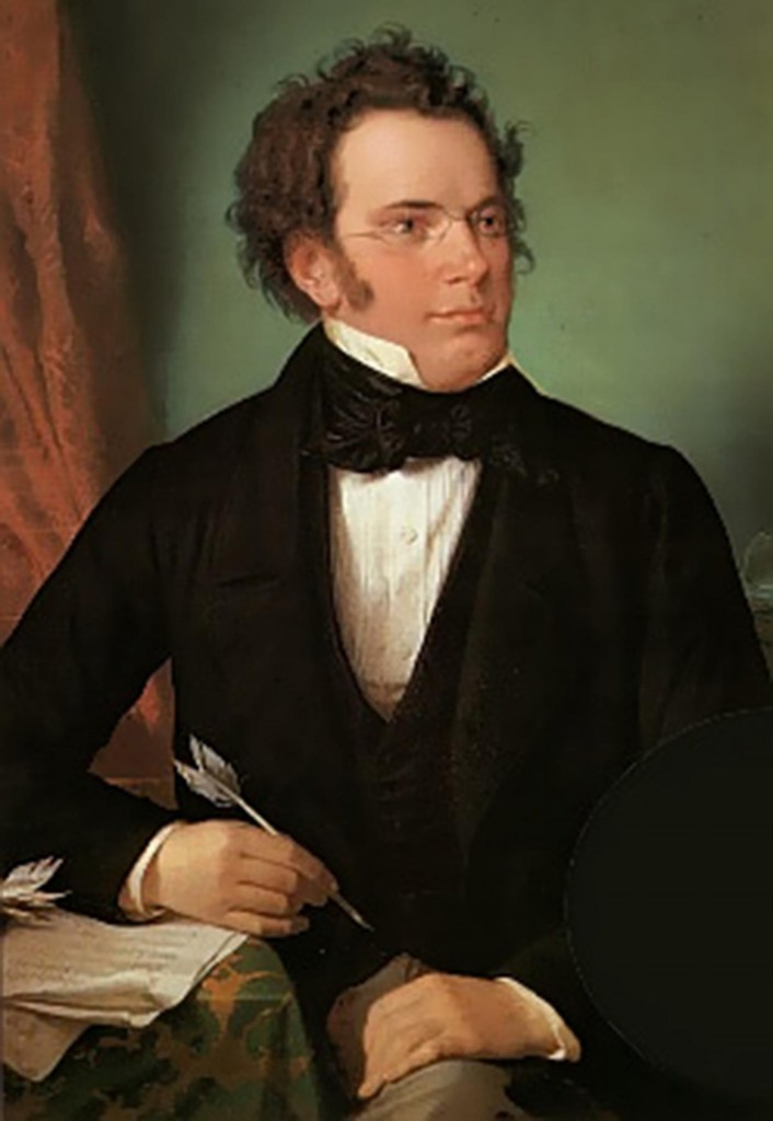 English: Oil painting of Franz Schubert, after...