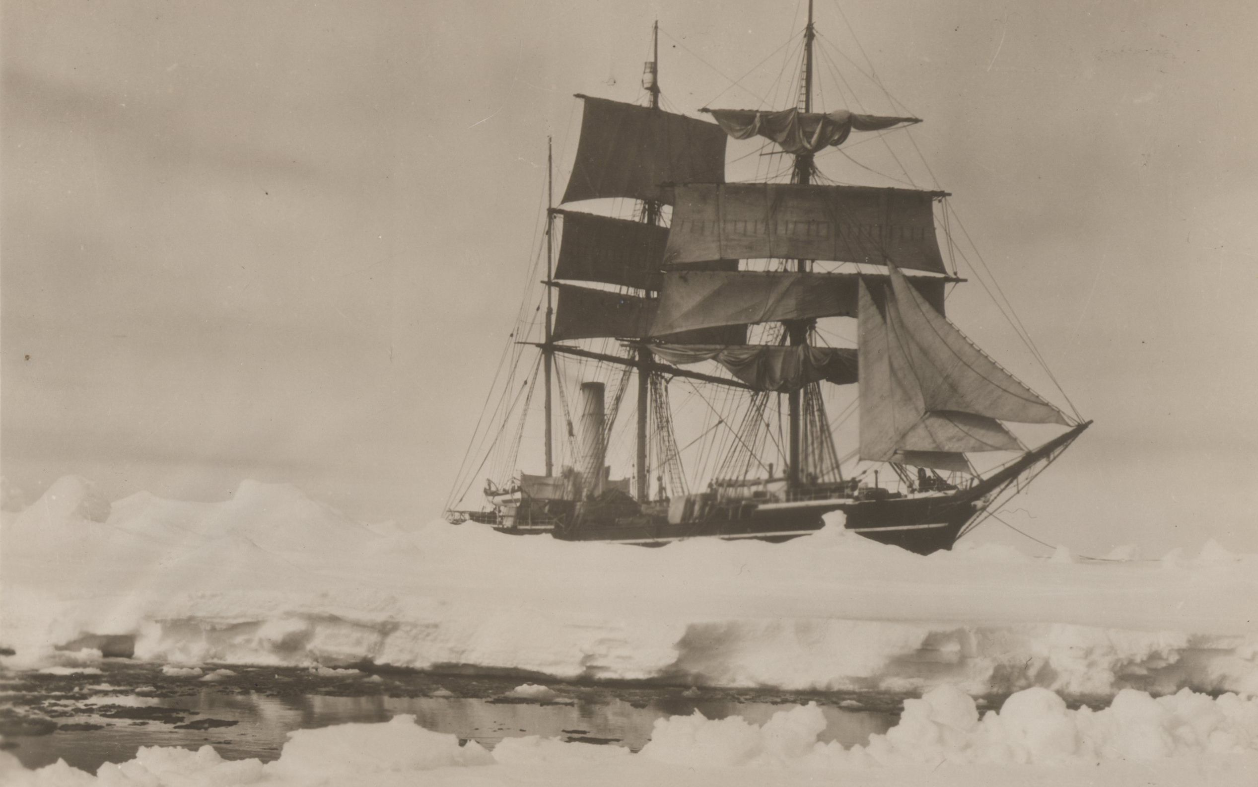 The Terra Nova, photographed in December 1910 by Herbert Ponting