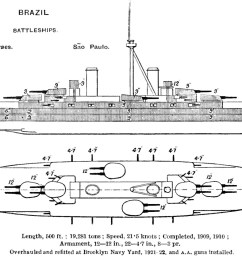 file minas gerais class battleship diagrams brasseys 1923 jpg [ 1200 x 841 Pixel ]