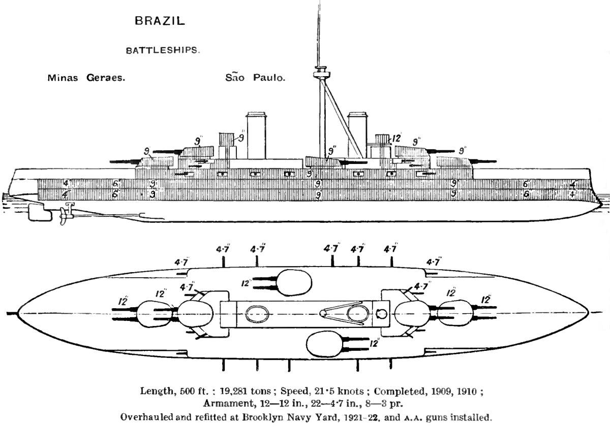 hight resolution of file minas gerais class battleship diagrams brasseys 1923 jpg
