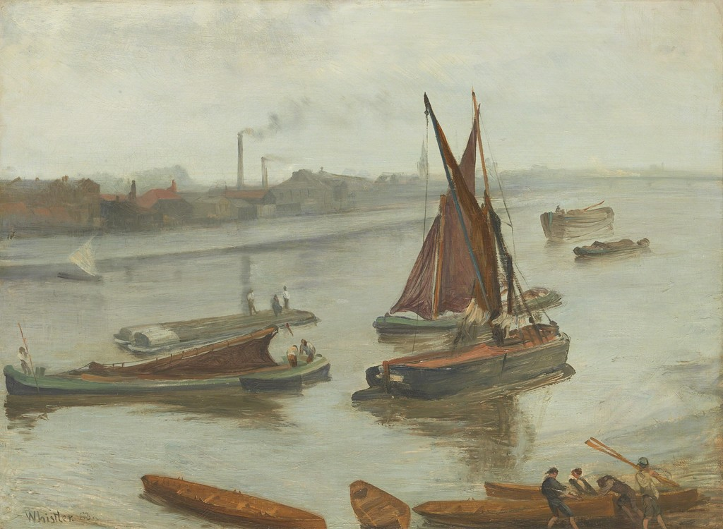 File:Whistler James Grey and Silver Battersea Beach 1863.jpg