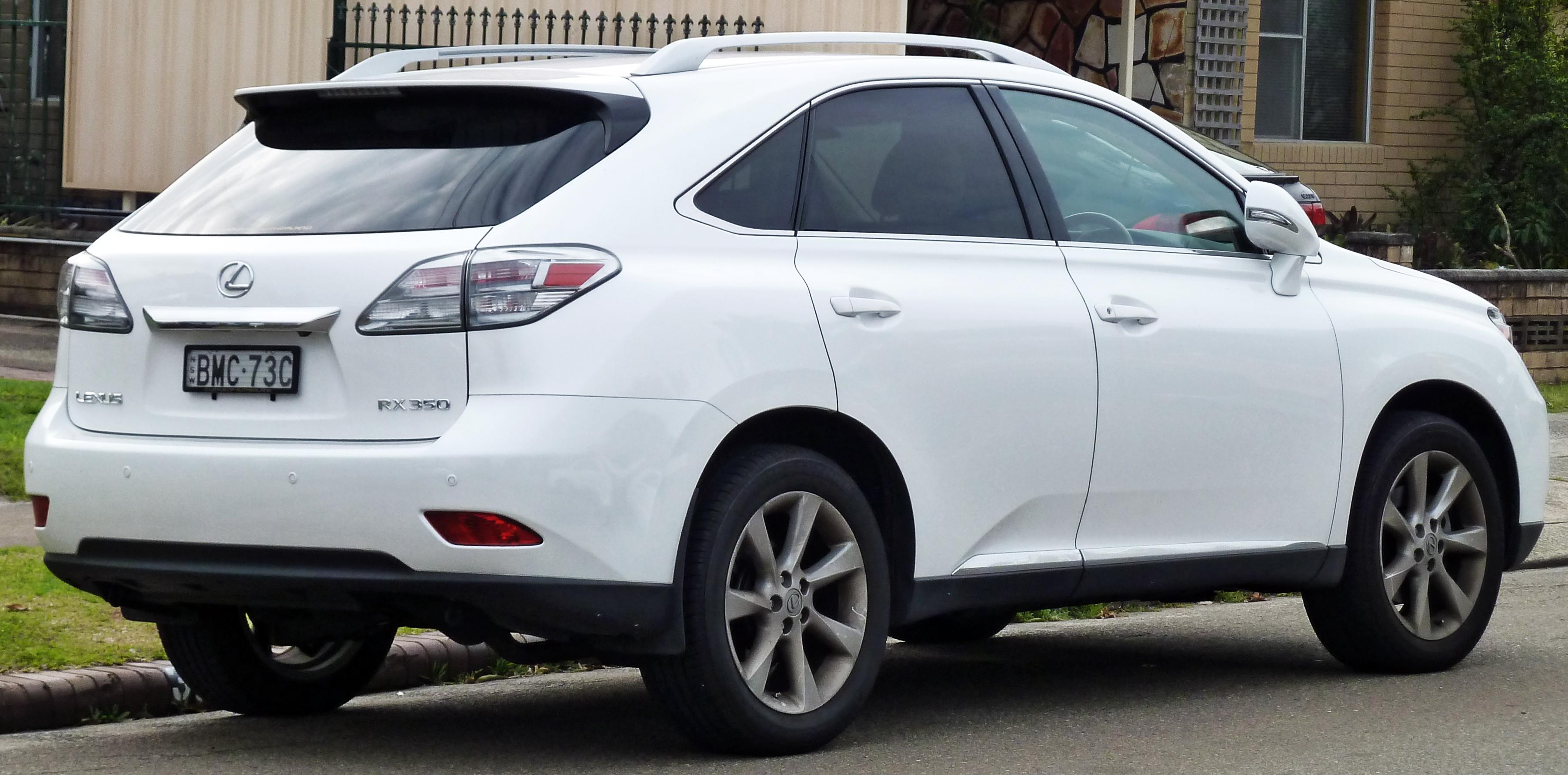 File 2009 2010 Lexus RX 350 GGL15R Sports Luxury wagon 04