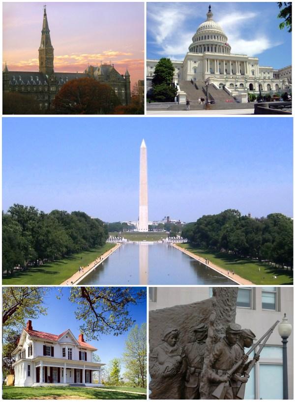 Washington DC Monuments Collage