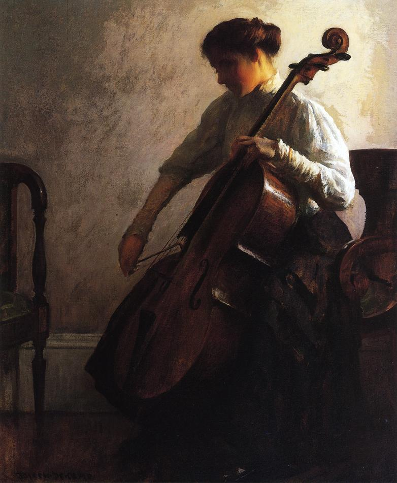 Joseph Decamp, The Cellist, 1908, Oil on canvas (71.12 × 58.57 cm)