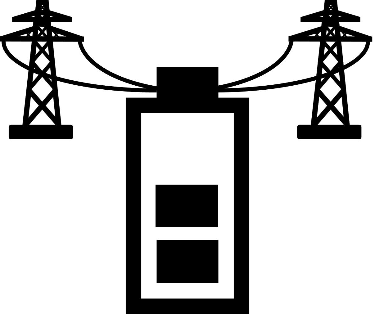 File Grid Energy Storage Icon