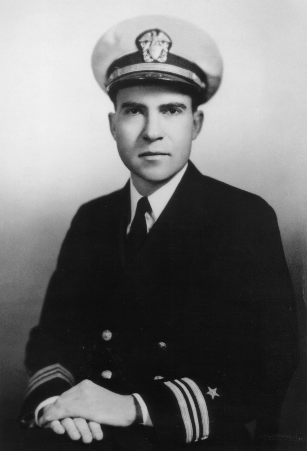 Lieutenant Commander Richard Nixon of the Unit...