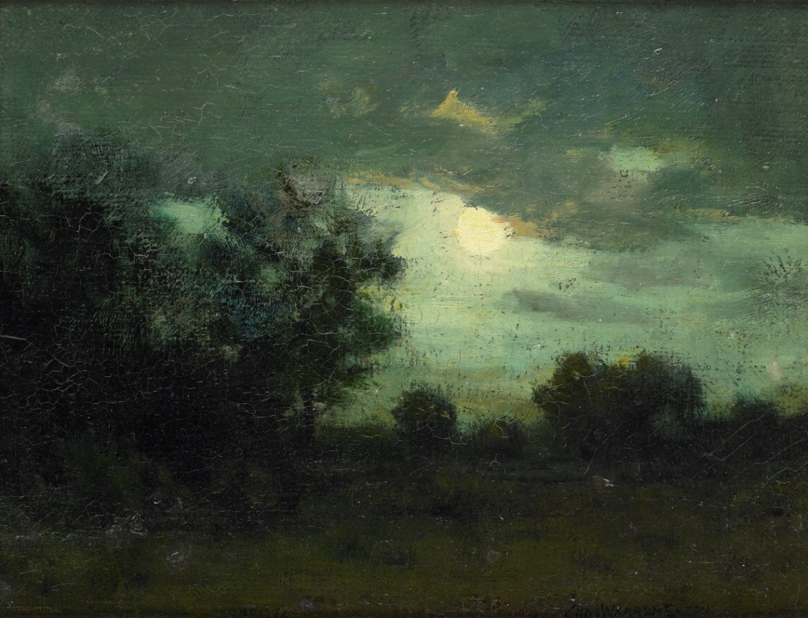 Filemoon Over The Forest By Charles Warren Eaton Jpg Wikimedia Commons
