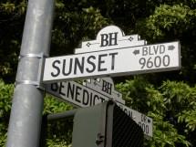 Sunset Blvd Street Sign