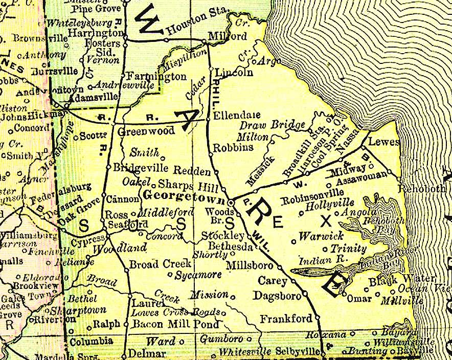 Map Of Delaware By County