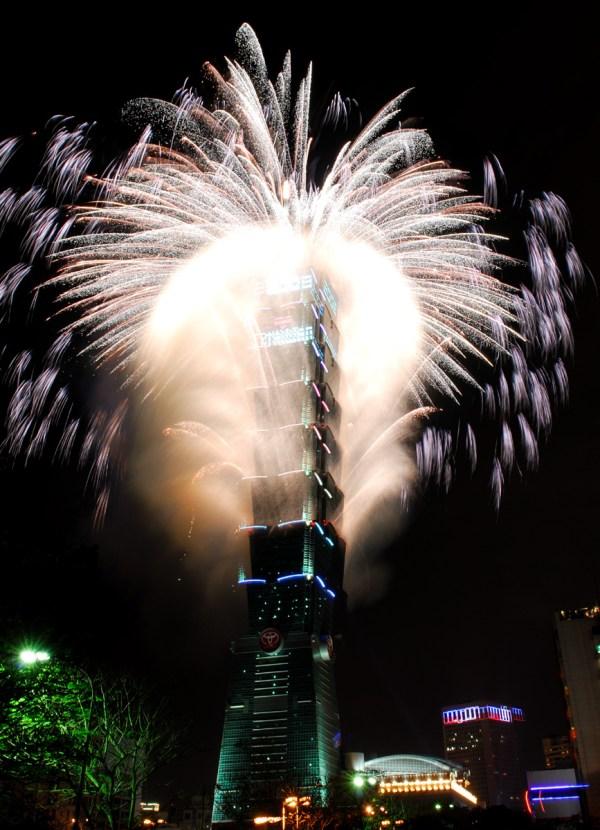 New Year Fireworks Taipei 101