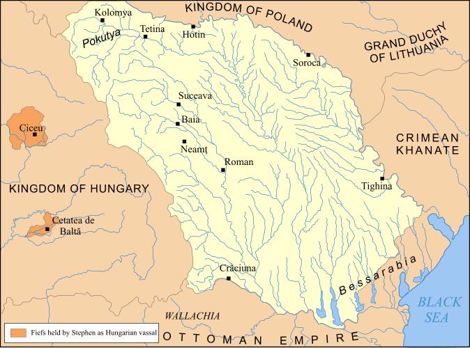 Tara Moldovei map