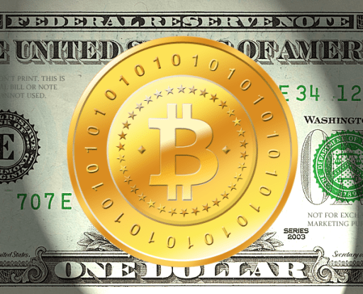 BitCoin Logo With US Dollar