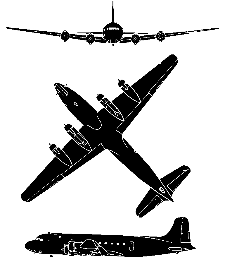 Silhouette of the Douglas C-54.