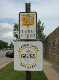 English: street sign in cicero