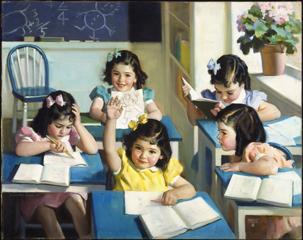 painting by Andrew Loomis, representing the Dionne quintuplets. 7 best drawing books