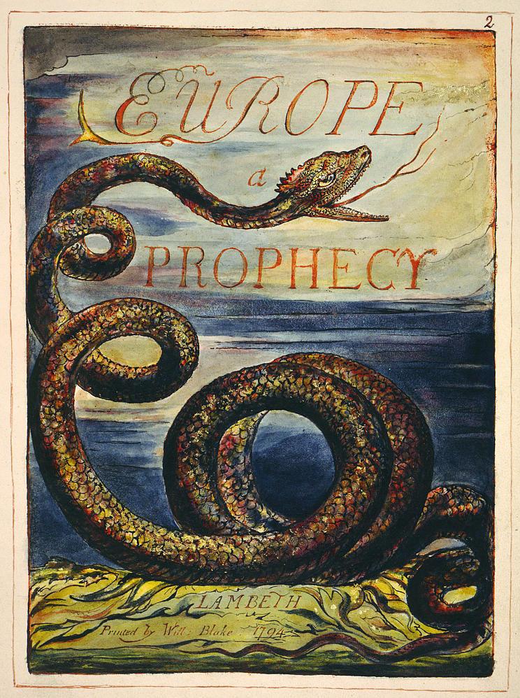 Europe a Prophecy - William Blake, 1794