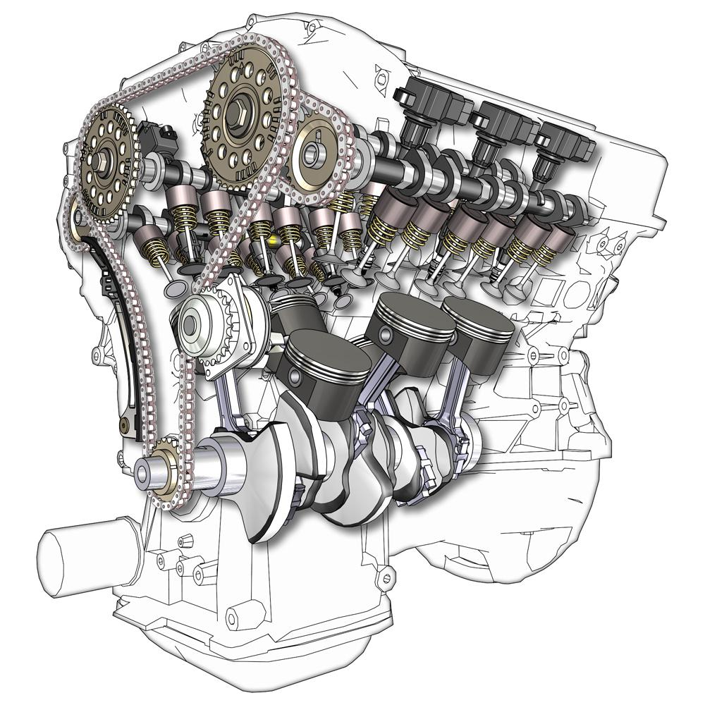 hight resolution of v6 engine