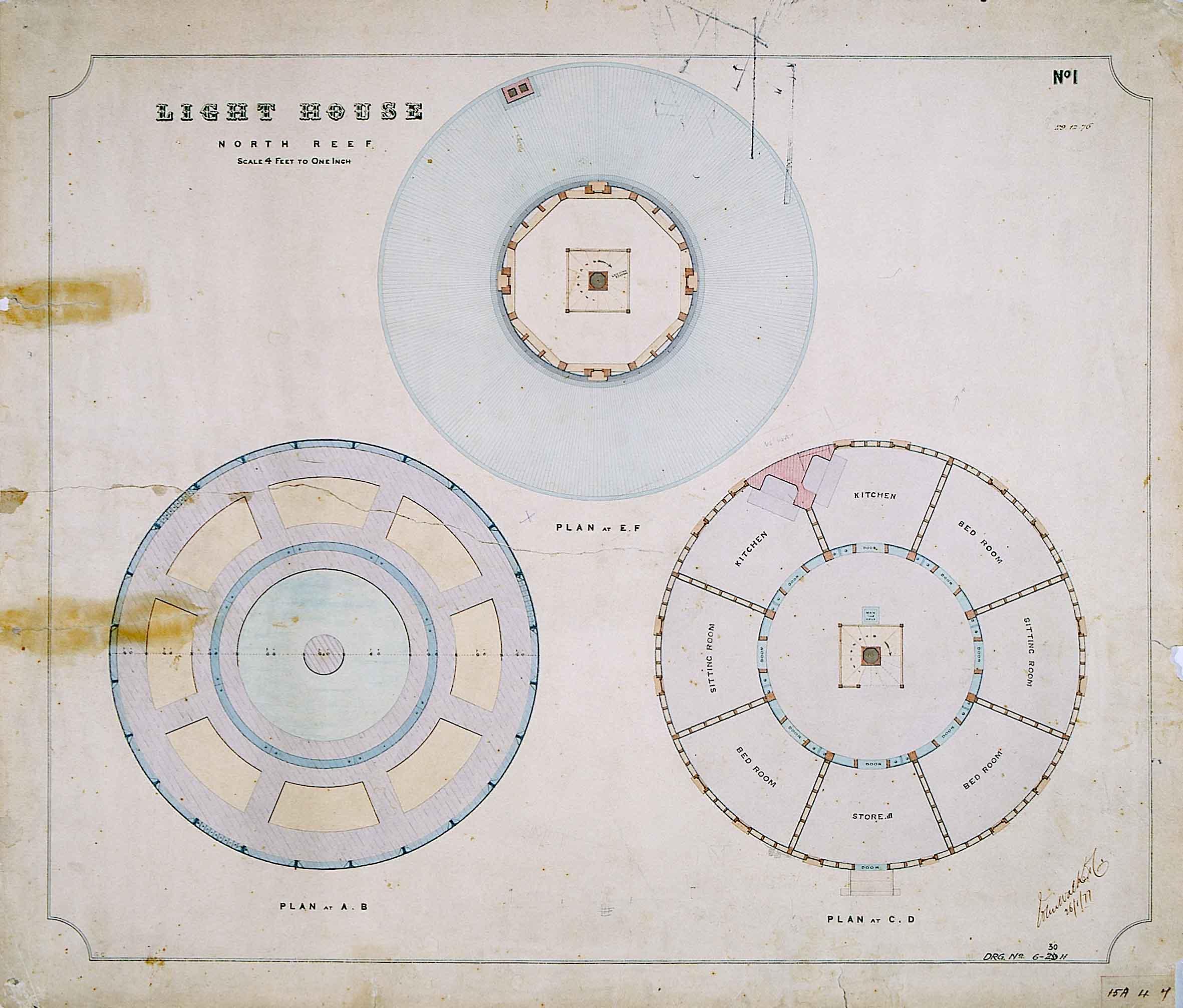 FileLighthouse North Reef  Floor plans 1876jpg