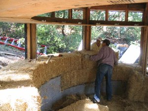 Image result for Strawbale construction