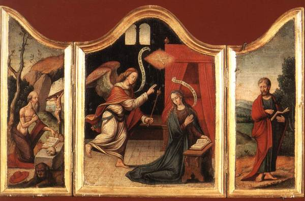 Religious Triptych Art Painting