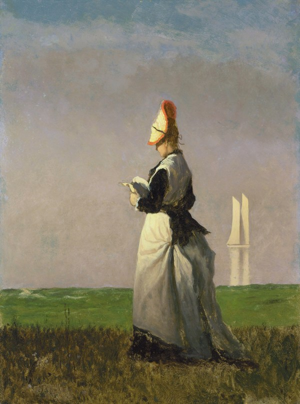 File Woman Reading Eastman Johnson San Diego Museum Of
