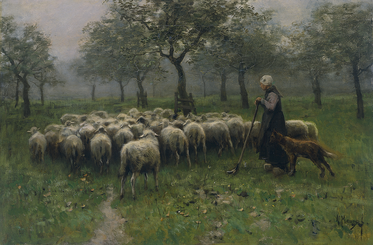 Anton Mauve, Shepherdess with flock