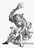 Deutsch: Historische Federzeichnung einer schu...