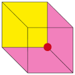 Necker Cube Illusion: Is the yellow side facing towards or away from the viewer? (Image credit: Wikimedia Commons.)