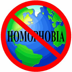 English: No Homophobia logo
