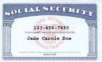 Modern Social Security card.