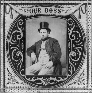 1869 tobacco label portraying Boss Tweed, from...