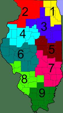 Illinois IDOT District Map