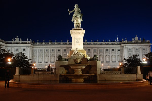 Madrid Royal Palace at Night