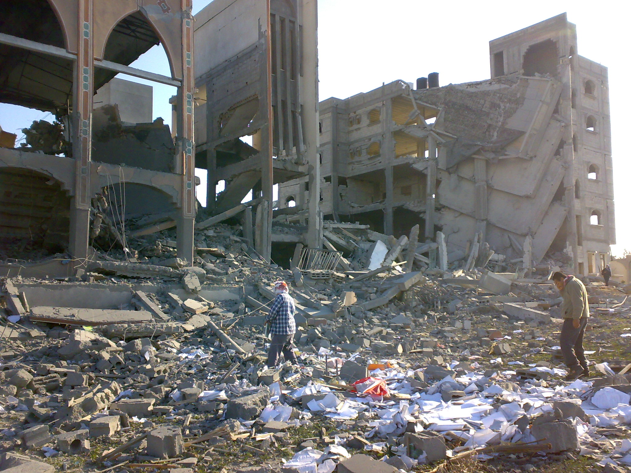 Bombed out building in Gaza