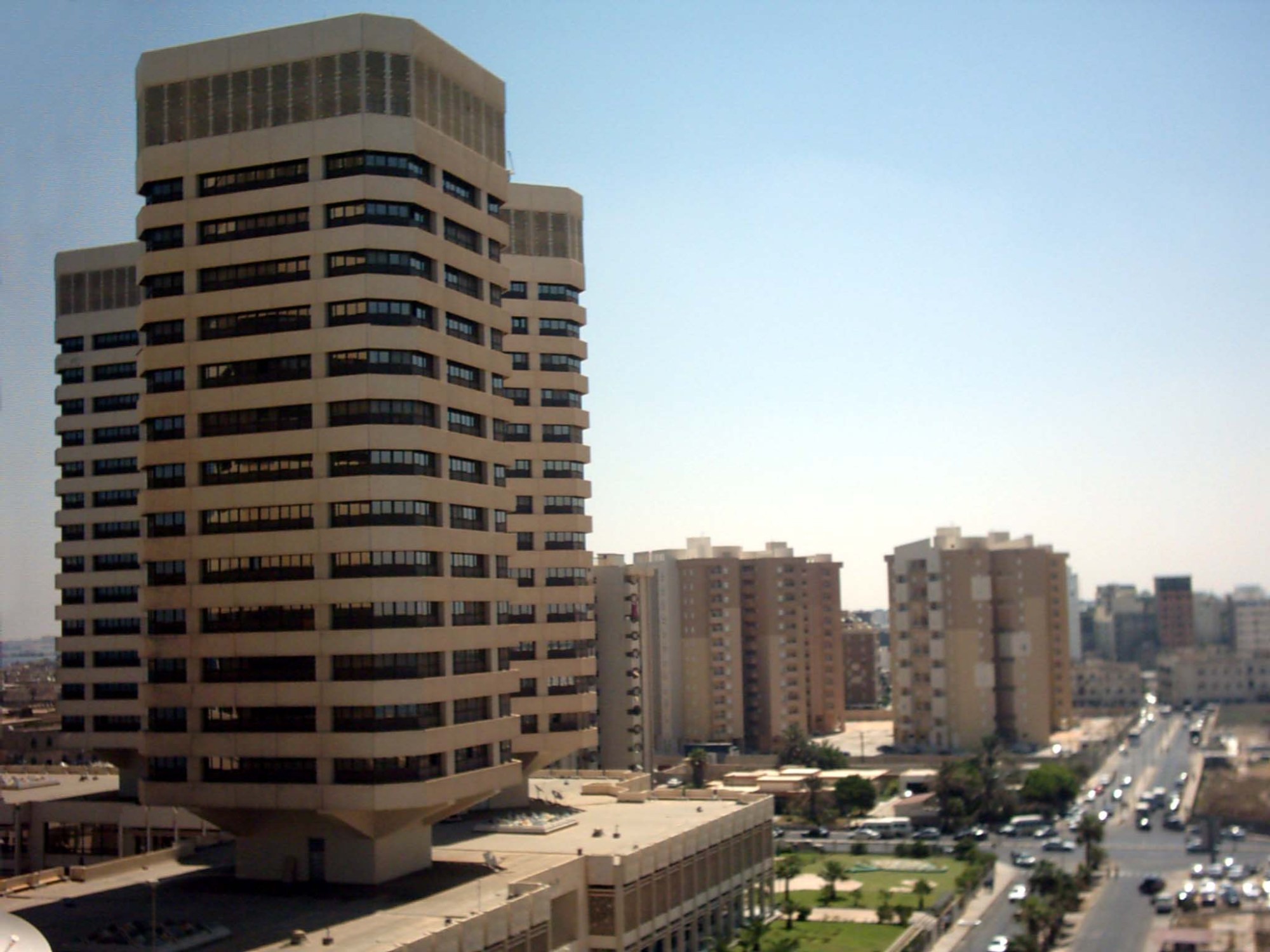 hight resolution of the that el emad towers built by daewoo corporations construction div in tripoli libya