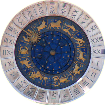 English: Astrological clock at Venice