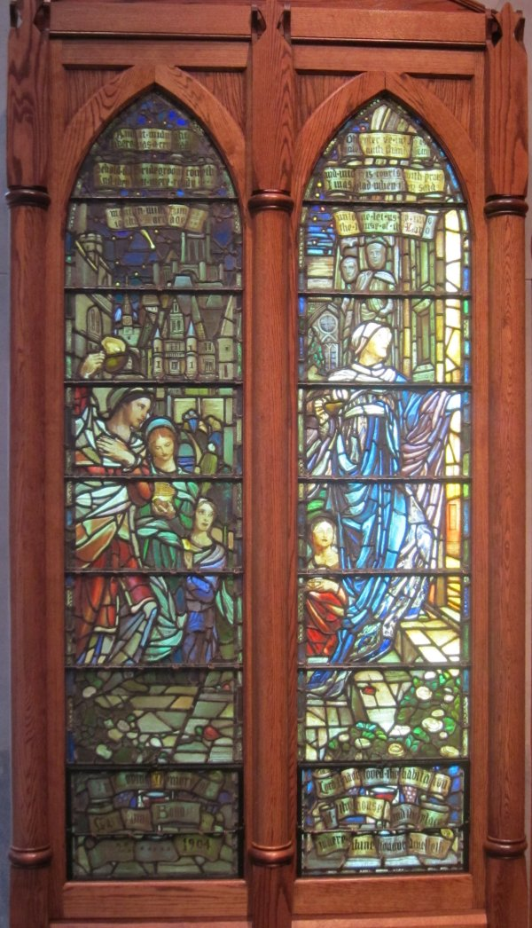 File ' Wise And Foolish Virgins' Stained Glass Lancet