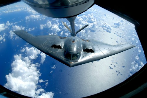 small resolution of a b 2 spirit moves into position for refueling from a kc 135 stratotanker