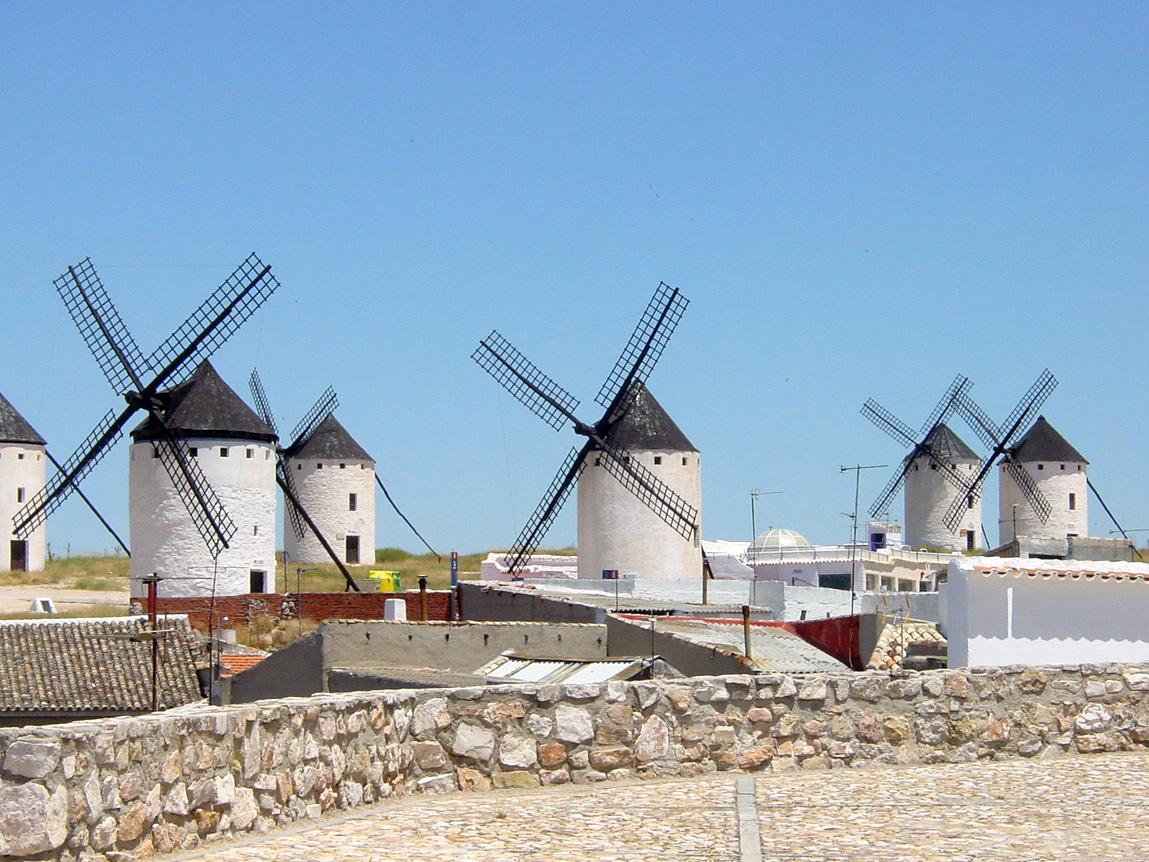 Spanish Windmills in La Mancha