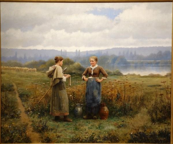 File Meeting Daniel Ridgway Knight . 1888 Oil