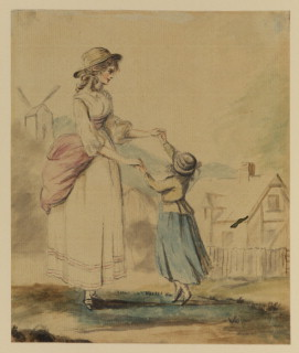 """Lady and child dancing"""