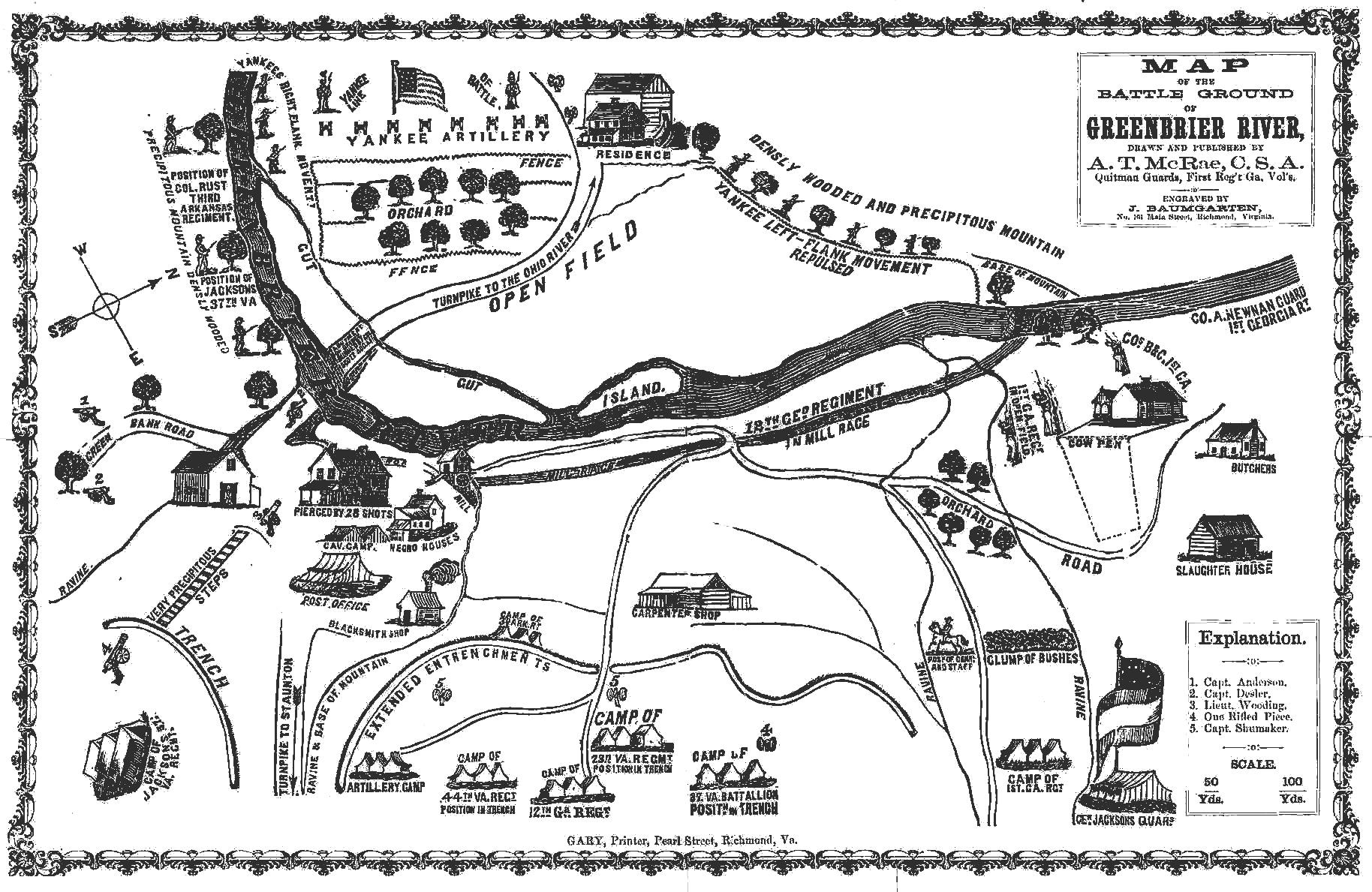 Civil War Sites Along And Near U S Rt 219