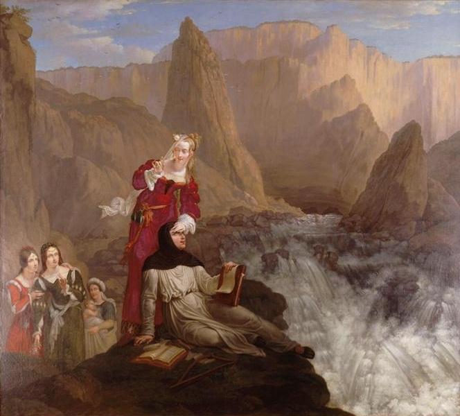 Philippe-Jacques van Brée - Laure et Pétrarque à Fontaine de Vaucluse