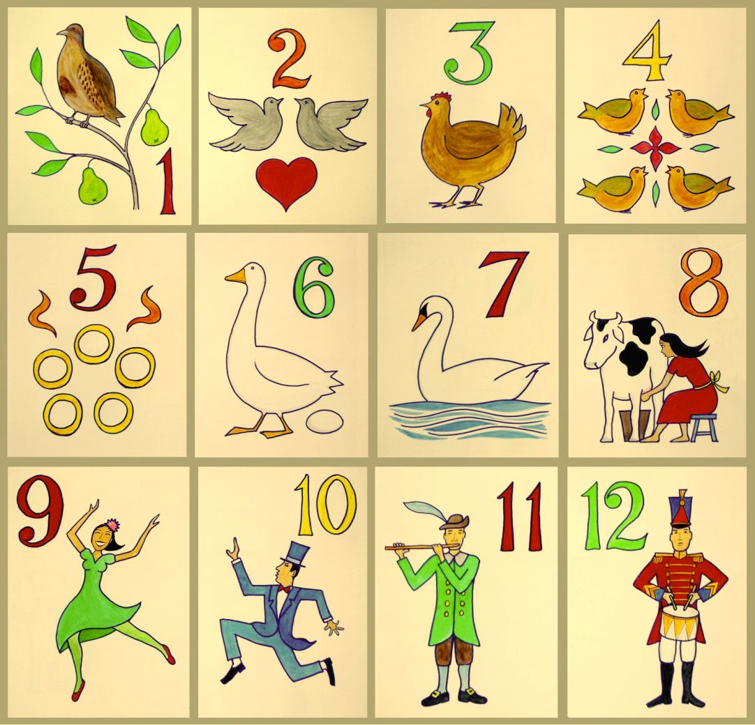 hight resolution of twelve day of christma clipart
