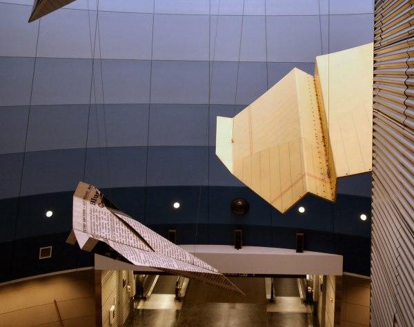 Airport Paper Planes Sculpture