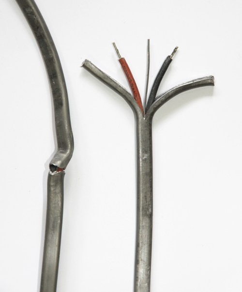 small resolution of file lead cased electrical wire from a circa 1912 house on southern england jpg