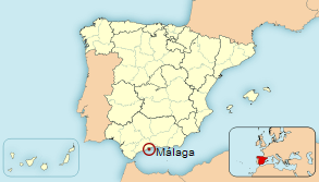 Malaga Location Map