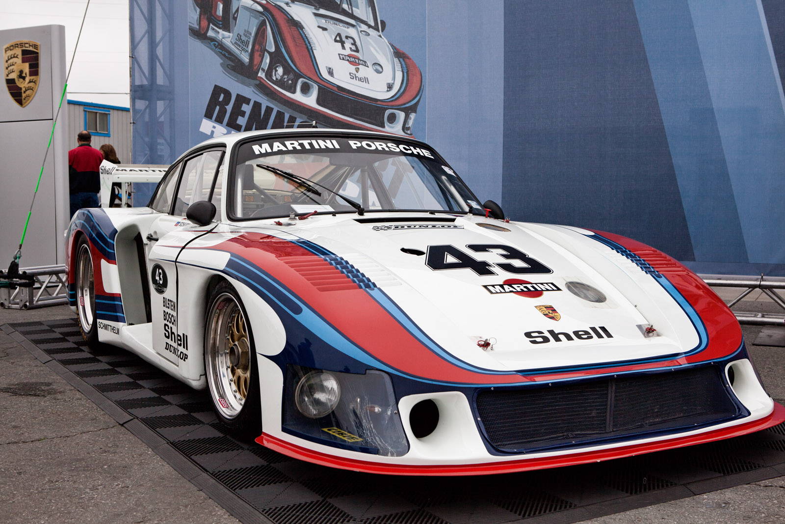 hight resolution of the original porsche 935 78 moby dick in martini racing livery at the porsche rennsport reunion iv