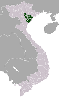 Red River Delta Region map of Vietnam